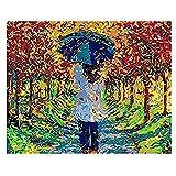 Pintar por números DIY Adecuado para Principiantes Adultos niños Set Color Loto Flor Lienzo decoración de la Boda Art & nbsp;40x50cm (con Marco)
