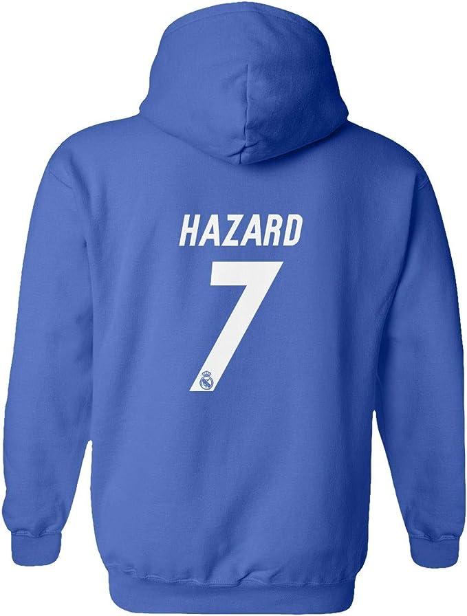 Real Madrid Eden Hazard #7 Shirt Soccer Tee Youth Hooded Sweatshirt