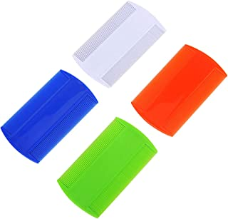 Junecat 2 Piezas de plástico de Color Puro al Diente Piojos
