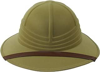 Deluxe Tan Jungle Safari Helmet British Hunting Sun Hat Theater Costume Prop