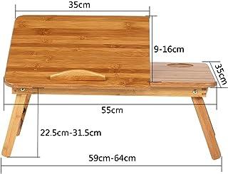 Table Portable Standing Desk Folding Computer Desk On Bed Solid Wood Multifunction Foldable Height Adjustable Adjustable D...