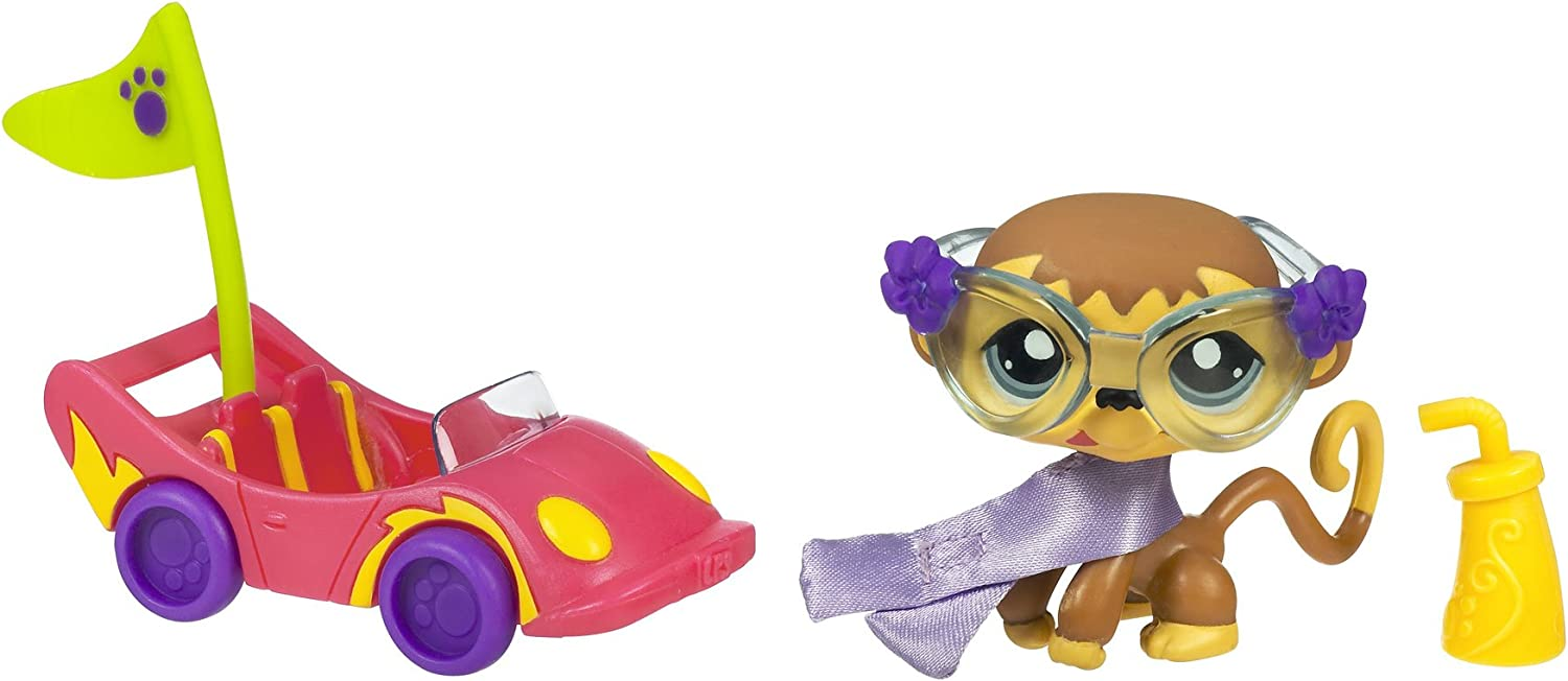 Littlest Japan Maker New Pet Shop- Pets On The Lowest price challenge Monkey A Car Go In