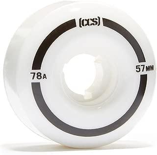 CCS Cruiser Skateboard Wheels - 57mm 78a White