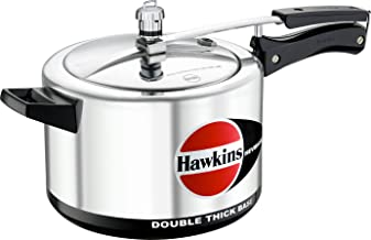 Hawkins Cookers H55 Hevibase Pressure Cooker, 5-Liter, Aluminum Silver