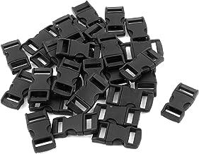 uxcell バックル サイドリリースバックル プラスチック製 ブラック ストラップ 30個入