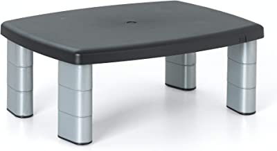 """3M Adjustable Monitor Stand, Three Leg Segments Simply Adjust Height From 1"""" to 5 7/8"""", Sturdy Platform Holds Up to 80 lbs..."""