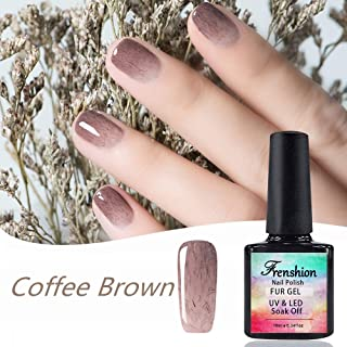 10ML Soak-off Semipermanent UV LED Gel Nail Polish Coffee Brown Fur for Winter Autumn