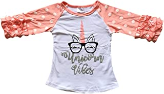 Little Girls Short Sleeve Unicorn American Flag Patriotic Summer Top T Shirt Tee