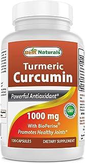 Best Naturals Turmeric Curcumin with Bioperine 1000 mg 120 Capsules