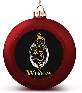 Christmas Ball Ornaments Lord Ganesh Hinduism Hindu & Gods Deities Hanging Ball Ornament Keepsake for Christmas Trees,Hol