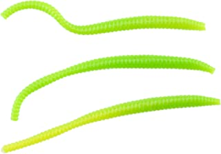 Berkley PowerBait Power Floating Trout Worm Soft Bait - Green Chartreuse - 3in | 8cm - Trout