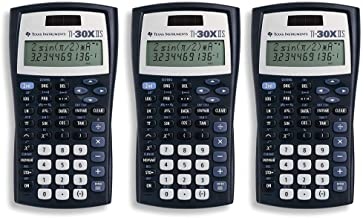 Texas Instruments TI-30X IIS 2-Line Scientific Calculator, Black with Blue Accents 3 Pack photo