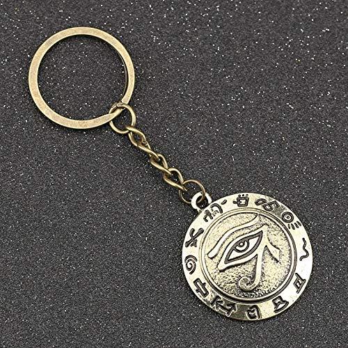 NOBRAND El Ojo De Horus Llavero Wedjat Mal Ojo Amuleto Antiguo Egipcio