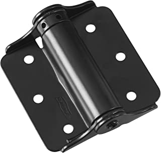 "National Hardware N114-975 125 Adjustable Spring Hinges in Black, 3"", 2 piece"