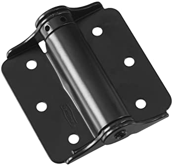 "National Hardware N114-975 125 Adjustable Spring Hinges in Black, 3"", 2 piece"