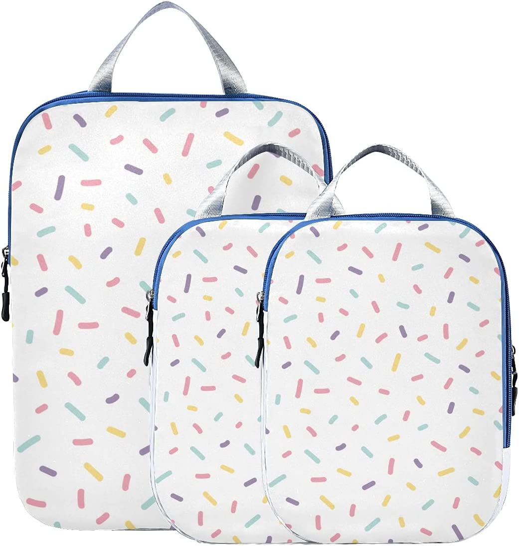 Packing Mesa Mall Cubes For Traveling Cute Confetti Sprinkles Lug Colorful New color