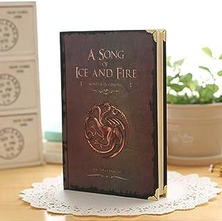 Diario Cuaderno de Cuaderno clásico, Cuaderno de Tapa Dura de Game of Thrones, tamaño: 7.3