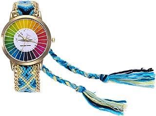 Reloj para Mujer, Reloj de Moda con Correa de Tela y dial de números para niñas