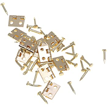 Dollhouse Miniature 1:12 Toy 2 Sets Of Copper Metal Gate Lock And Key SPO584