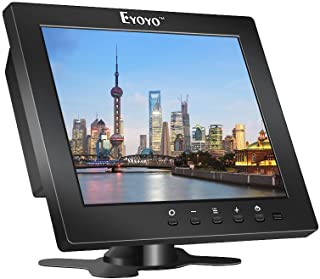 Eyoyo Écran 8 Pouces 4:3 HD Résolution de 1204×768 Moniteur Couleur TFT LCD avec..