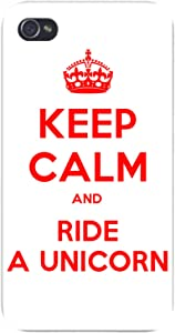 Apple iPhone Custom Case 5 5s and SE Snap on - Keep Calm and Ride a Unicorn