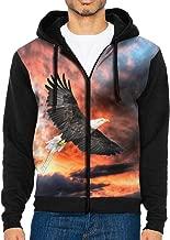 Men Pullover Hood Sunset Eagle Zip Hoodies Hooded Cool Jackets Coats