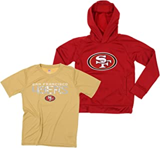 Outerstuff NFL Youth Boys (8-20) Two Piece Performance LS Fleece Hoodie and SS Tee Combo Set, Team Variation