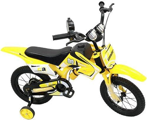 mejor servicio LSJ SHOP Bicicletas para para para Niños, Motocicletas, Bicicletas de Montaña para Niños, Motocicletas para Niños (tamaño múltiple Opcional) (Color   amarillo, Talla   16 in)  nuevo sádico