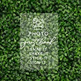 Andaz Press Photo Guestbook, Snap It, Shake It, Stick It, Sign It Acrylic Sign, 7.5 x 11 Inch, Stand Included, Photo...