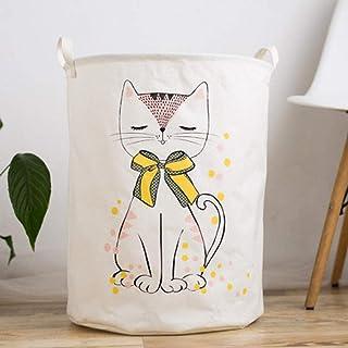 MJY Paniers à linge, paniers noeud de chat pour chat Imperméables avec poignée Grande capacité repliable, facile à transpo...