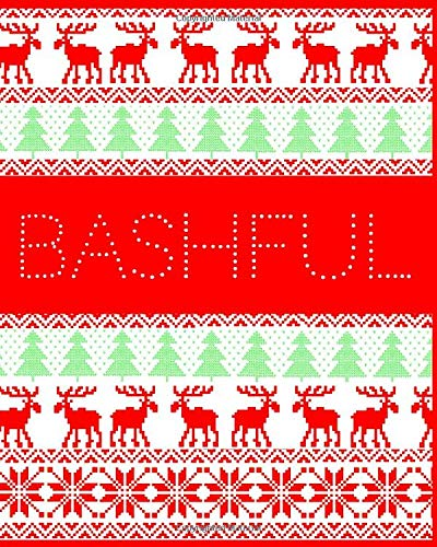 Bashful: Seven Dwarfs Christmas Jumper style notebook. Perfect Christmas gift for those who have everything!