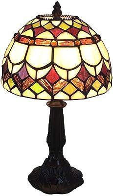 TMS Dormitorio Romántico Retro Lámpara de Mesa Lámpara de Mesa ...