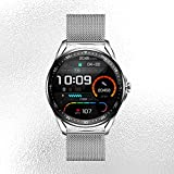 MOKCF High End Men Business Smart Watch, 1.28 Inch Full Touch Screen Smartwatch Fitness Tracker, 23 Sport Modes Fitness Watch for Android & iOS (Silver)