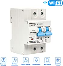 100 A 1P. Faxiang Disyuntor de circuito WiFi 1//2//3//4 P App Control Remoto autom/ático Interruptor de sobrecarga Circuito Protecci/ón contra cortocircuitos Soporte  Alexa Google Home