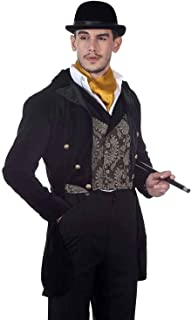 ThePirateDressing Steampunk Victorian Pirate Gothic Cosplay Mens Costume Coat Jacket