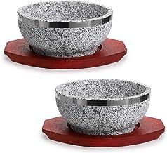 وعاء بيبيباب من دولسوت قطعتين من إم دي إل يو مع قاعدة خشبية، وعاء دولسوت للشوربة الكورية والأرز والخريج.