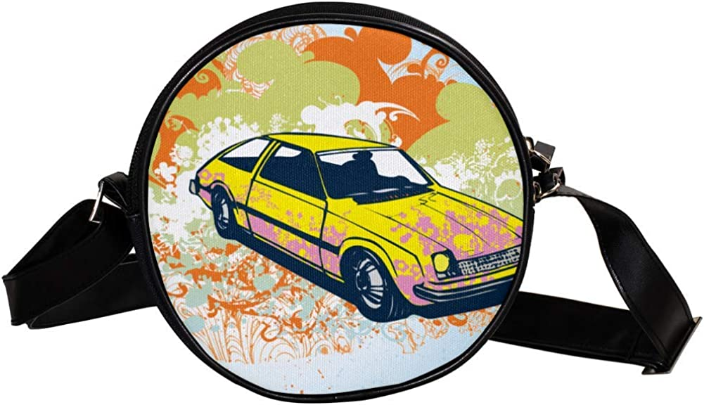 Coin Purse Popular standard For Kids Yellow Car Bag Illustration Mini Crossbody San Francisco Mall G