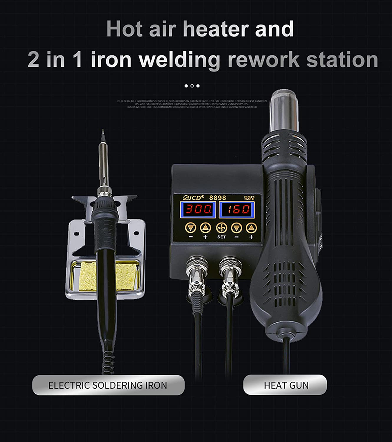 Lailuaxoa Soldering Station 750w Max 80% OFF 2 in Digital Electronic Ranking TOP5 Repa 1