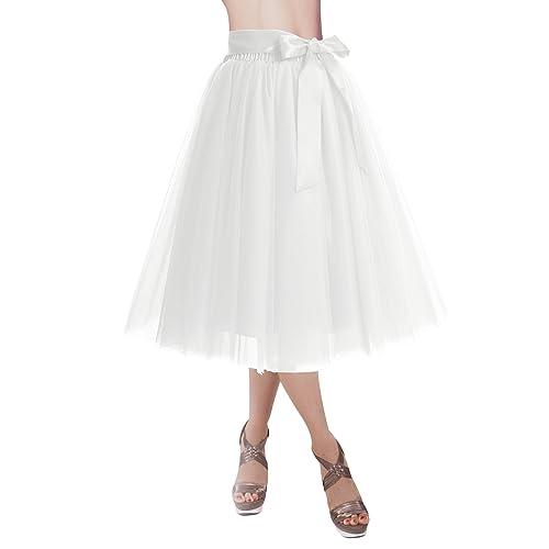 673119481 DRESSTELLS Knee Length Tulle Skirt Tutu Skirt Evening Party Gown Prom  Formal Skirts