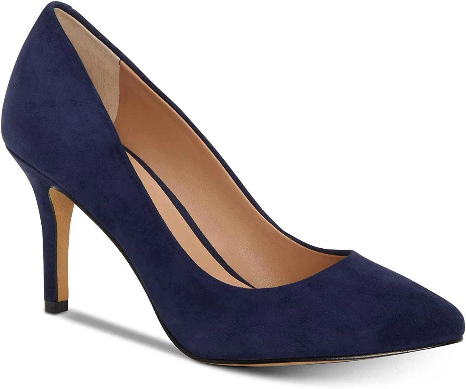 INC International Concepts Womens Zitah5 Leather Pointed Toe Classic Pumps