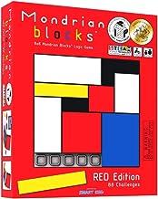 Mondrian Blocks - Red Edition (Parents' Choice Award Winner) - Brain Teaser STEM Puzzle Game