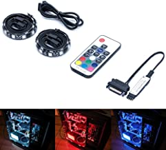 Magnetic RGB LED Strip Lights for PC Computer case - 2pcs 12inches LED Strip Kit with Multi Function RF Remote Control