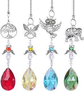 H&D HYALINE & DORA Sun Catcher Crystal Angel Rainbow Maker w/Animal Figurine Hanging Suncatcher for Window, Home Decor, Car Charms