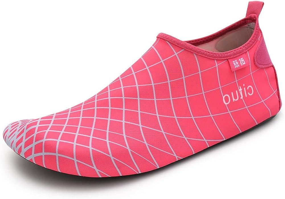 Gungun Adult Swimming Water Shoes Aqua Barefoot Sock for Women Men
