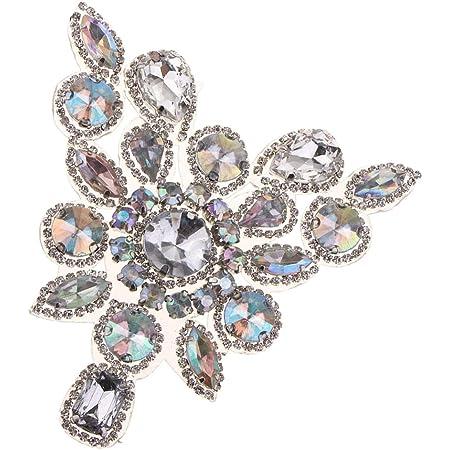 Perle Blume Schuhclip mit Strass Eisen auf Perle Patch Applique Abzeichen X6G1