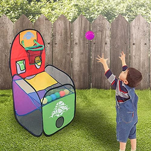 REPLOOD Juego de baloncesto para niños con 6 bolas de baloncesto pelota canasta 48 x 48 x 102 cm