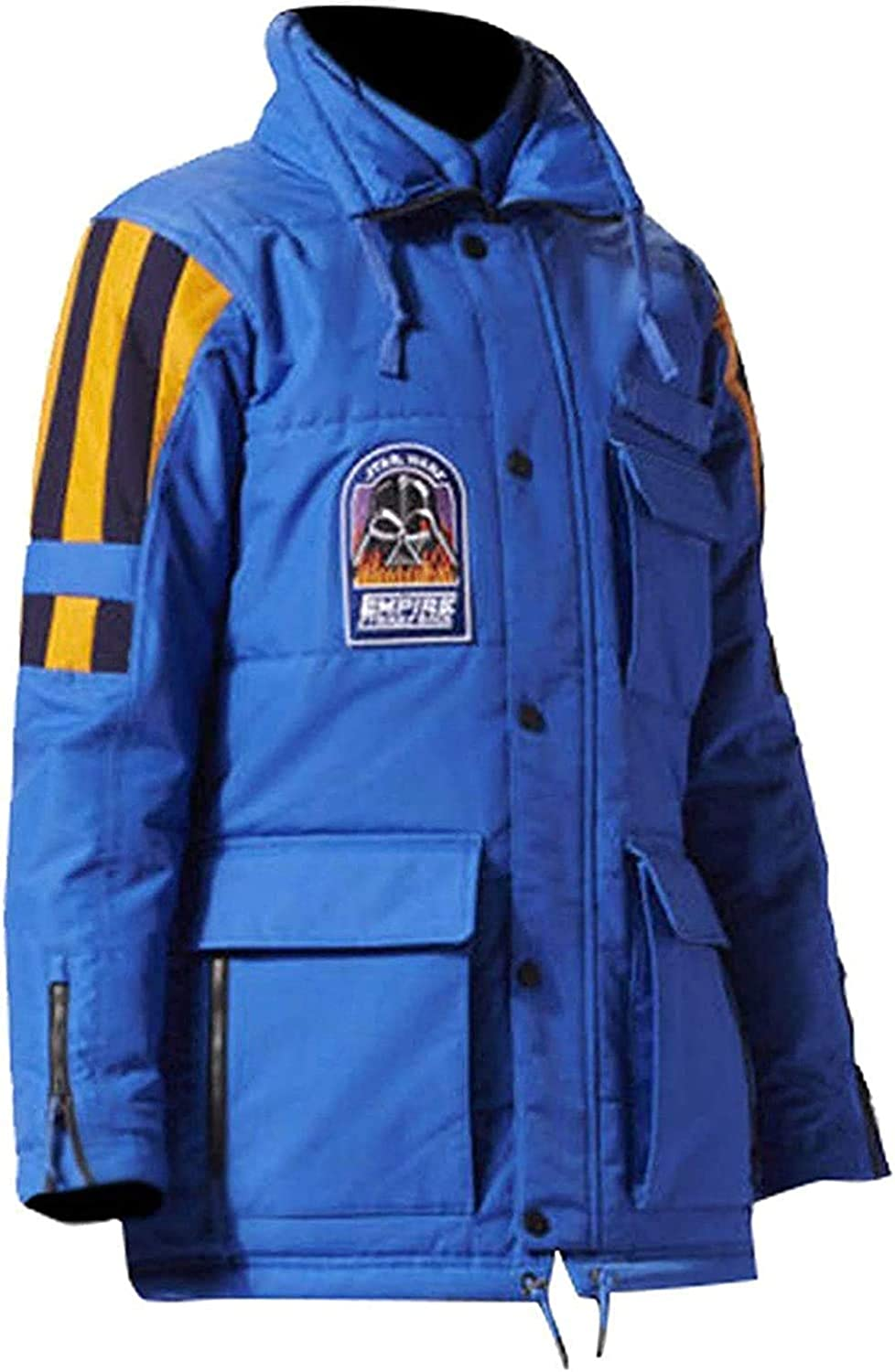 ADS At the price Unisex Blue Max 58% OFF Cotton Parka Style Emperic Strike The Coat Cotto