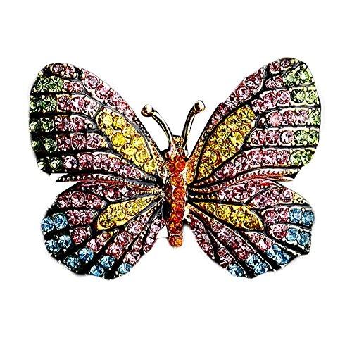 Colorful strass femmes Broche Pins papillon breastpin Vêtements Accessoires