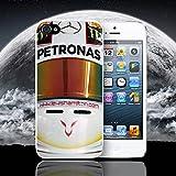 Funda para iPhone de Lewis Hamilton casco F1., WHITE CASE, IPHONE 5 - 5S