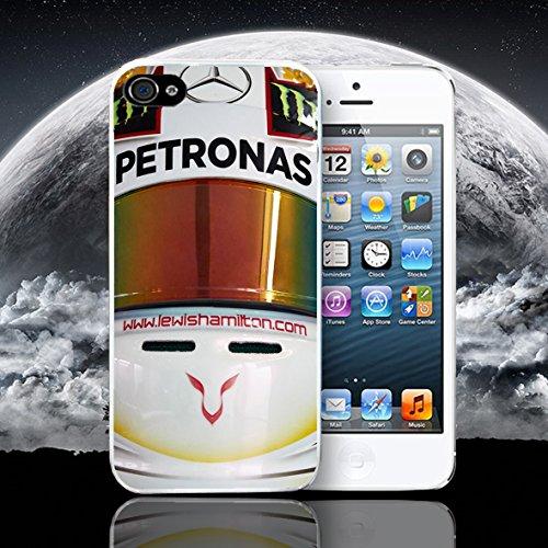 Funda para iPhone de Lewis Hamilton casco F1., WHITE CASE, iPhone 6